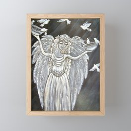 Angel Statue  Framed Mini Art Print