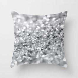 Silver Gray Lady Glitter #1 #shiny #decor #art #society6 Throw Pillow