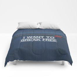 Denim Jeans - I Want To Break Free Comforters