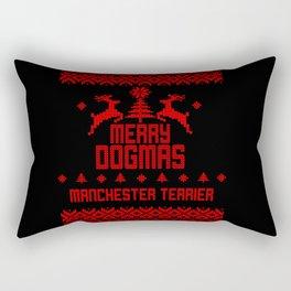 Merry Dogmas Manchester Terrier Rectangular Pillow