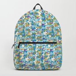 Flower Lei Blue Rows Backpack
