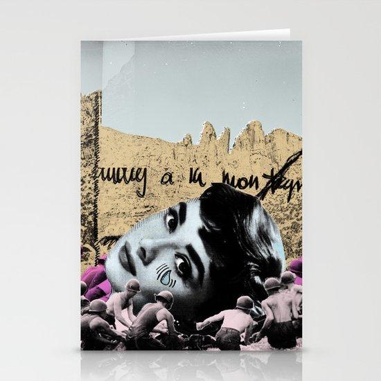Audrey Hepburn à la montagne Stationery Cards