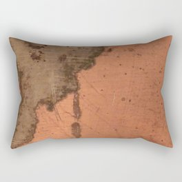 Tarnished Copper rustic decor Rectangular Pillow