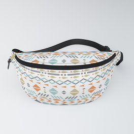 Southwestern Tribal Modern Geometric Stripes of Arrows Chevrons Diamonds Leaves Triangles Circles Fanny Pack
