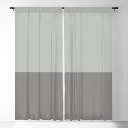 Benjamin Moore 2019 Color of Year Metropolitan AF-690 and Cinder Dark Gray Af-705 Horizontal Stripes Blackout Curtain