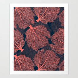 Fan living coral Art Print