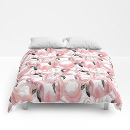 All the Flamingos Comforters