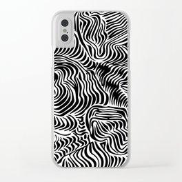 black flow Clear iPhone Case