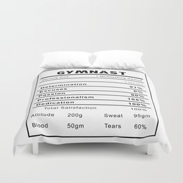 Gymnast Nutrition Ingredients Duvet Cover