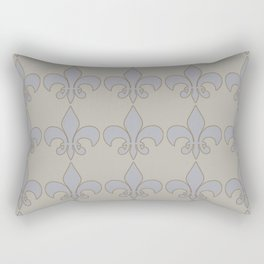 Fleur de lis....blue /orange color harmony neutral Rectangular Pillow