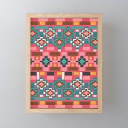 Multicolored joyful shapes Framed Mini Art Print