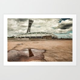 Reflection of the Olympic Stadium of Montreal Art Print