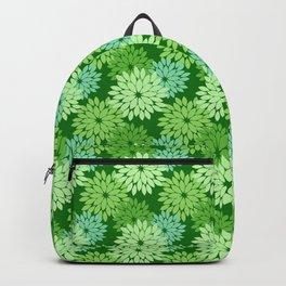 Modern Floral Kimono Print, Lime Green Backpack