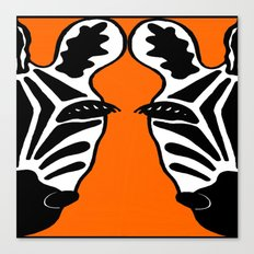 Two Face Zebra Canvas Print