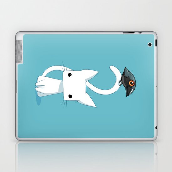Cat and Raven Laptop & iPad Skin