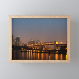 Vancouver in the Haze Framed Mini Art Print
