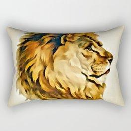 MAJESTIC LION PORTRAIT Rectangular Pillow