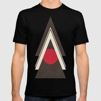 Tribal New World  Mens Fitted Tee MEDIUM Black