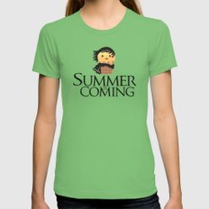 Summer is Coming X-LARGE Grass Womens Fitted Tee
