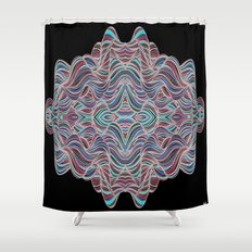 Abstract Waves of Thoughts Shower Curtain