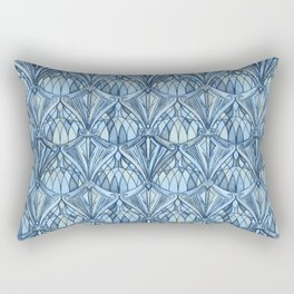 View From a Blue Window Rectangular Pillow