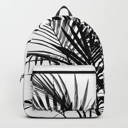 Little palm tree in black Backpack