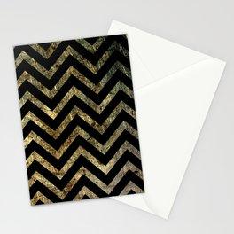 Brass Chevrons Stationery Cards
