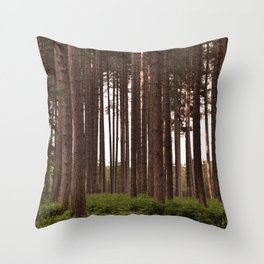 Forest Landscape - Nature Photography Throw Pillow