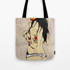 Iron Girl Tote Bag