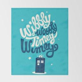 Wibbly Wobbly Timey Wimey Throw Blanket