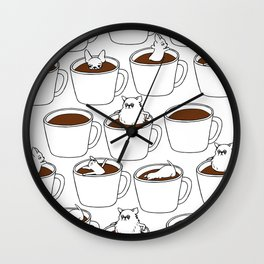 More Coffee Chihuahua Wall Clock