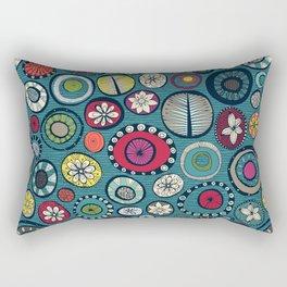 Honolulu hoops chevron blue Rectangular Pillow