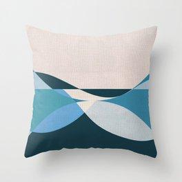 Sinuous Curves 3 Throw Pillow