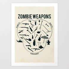 Zombie weapons Art Print