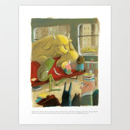 A Velocity of Being: Olivier Tallec Art Print