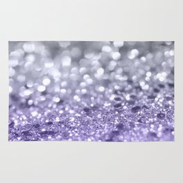 Purple Gray MERMAID Girls Glitter #1 #shiny #decor #art #society6 Rug