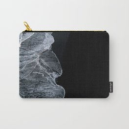 Waves on a black sand beach in iceland - minimalist Landscape Photography Carry-All Pouch