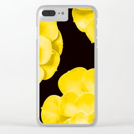 Large Yellow Succulent On Black Background #decor #society6 #buyart Clear iPhone Case