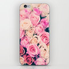 Paris pastel roses iPhone & iPod Skin