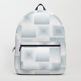 Pale Blue & Gray Textured Tile Square Simple Checkerboard Pattern Home Goods Backpack