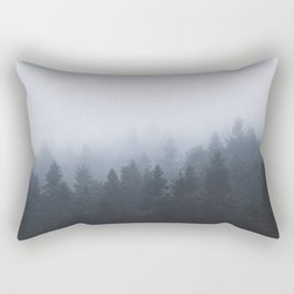 Mysterious forest in the fog Rectangular Pillow