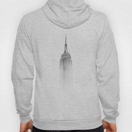 Wistful monochrome Empire State Building Hoody