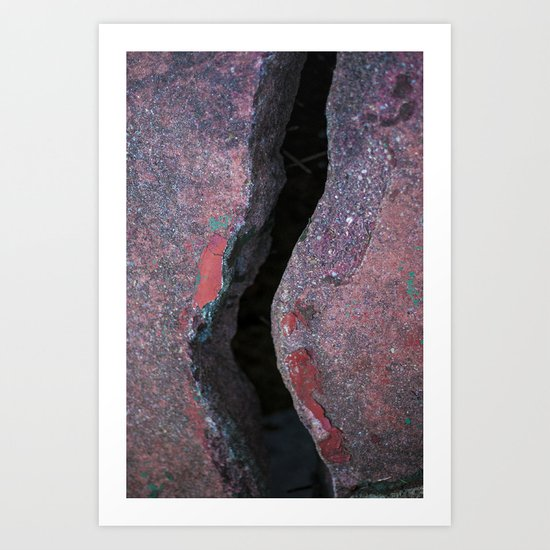 Cracked Bridge Art Print
