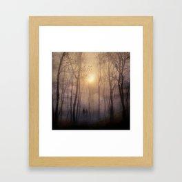 Eternal walk by Viviana Gonzalez Framed Art Print