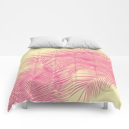 Palm Leaves, Pink Comforters