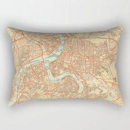 Taipei Map Retro Rectangular Pillow