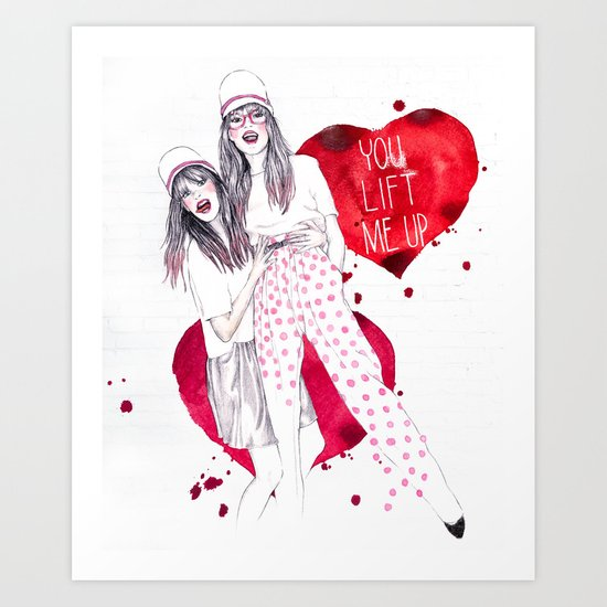 High, Valentine :-) Art Print