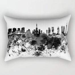 Tokyo skyline in black watercolor Rectangular Pillow