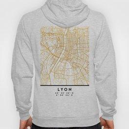 LYON FRANCE CITY STREET MAP ART Hoody