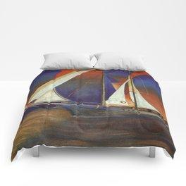 Gulet Under Sail Comforters